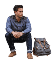 Young man sitting.Victoriabea