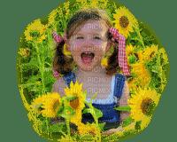 child autumn sunflowers enfant automne