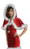 Kaz_Creations Woman Femme Red Christmas Noel