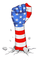 Kaz_Creations America 4th July Independance Day American Fist Flag