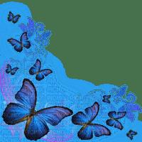 blue butterflies corner déco bleu coin papillon