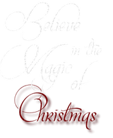 believe in  the magic of chrismas text