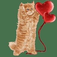 cat chat katze animal heart coeur love valentine balloon red  summer ete  tube   spring printemps