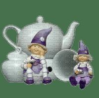 tea tee  can deco tube  thé pot kanne scrap  dwarf