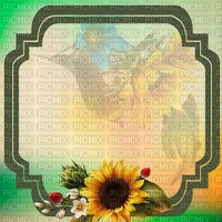 fond-background-encre-tube-cadre floral -decoration-tube-image-green and yellow__Blue DREAM 70