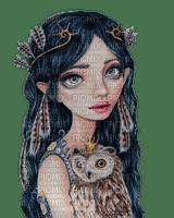kikkapink woman fantasy owl bird