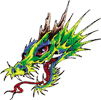 tatouage dragon vert