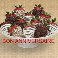 image encre bon anniversaire mariage chocolat des fraises chocolat fête diplôme  edited by me