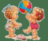 Girls, Babys, Strand, Ball