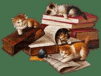 cats books vintAGE  chat livres