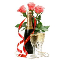 deko,rose,champagne, birthday, wedding, Pelageya Christmas GIF animation