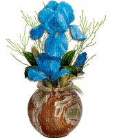 Vase d'iris turquoise