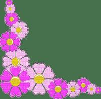 Coin fleur rose pink flower corner