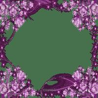 PURPLE FLOWER FRAME  cadre fleurs violette