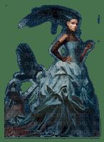 gothic woman raven femme gothique corbeau