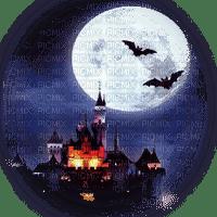 castle moon bats chateau lune paysage