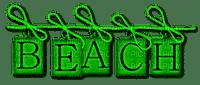 Beach.Text.Green