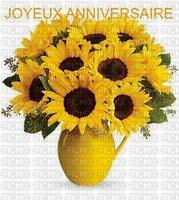 image encre joyeux anniversaire fleurs bouquet edited by me