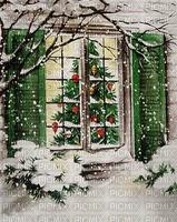 Weihnachten, Winter, Fenster, Hintergrund