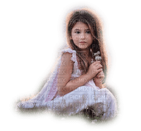 minou-child-girl-white-dress-flower-flicka-blommor-vit-klänning
