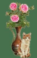 flower fleur vase cat pot