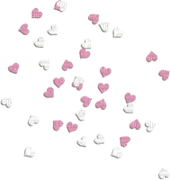 pink white hearts deco