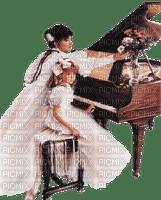 Kaz_Creations Woman Femme Child Piano Girl