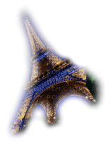 eiffel tower paris night deco tube gold nuit blue