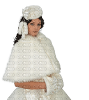 dame en blanc hiver