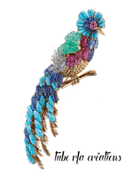 rfa créations - broche, bijou, oiseau