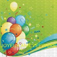 image encre couleur effet ballons cadre bon anniversaire  edited by me