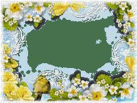 frame with yellow flower-cadre avec fleur jaune-cornice con fiore gialli-ram med gula blommor-minou