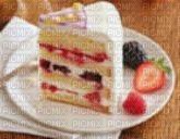 tranche de gâteau chocolat et fraise