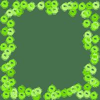 green bubbles frame cadre vert