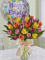 joyeuses pâques tulipes