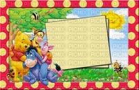 image encre couleur Pooh Eeyore Disney anniversaire effet à pois paysage edited by me