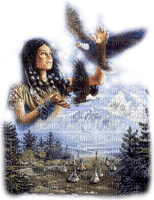 amerindienne femme aigle woman indian eagle