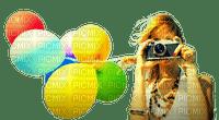 Kaz_Creations Woman Femme  Girl Camera Balloons