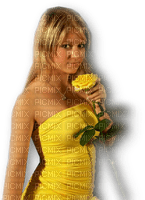 femme jaune woman yellow