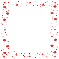 red bubbles deco frame cadre rouge