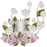 Kaz_Creations Flowers Flower Deco Ribbons Bows Candle Colours Candles