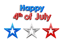 Kaz_Creations America 4th July Independance Day American Text Stars