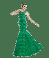 femme robe verte