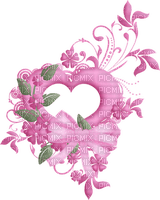 coeur rosé
