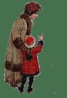 winter vintage mother child