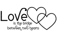 Kathleen Reynolds  Logo Text Love is the bridge between two hearts