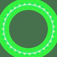 green lights frame circle christmas