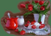 chantalmi café fraise petit déjeuner