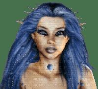 fairy woman blue feerie femme bleu