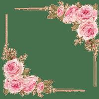frame corner roses pink cadre coin rose pink